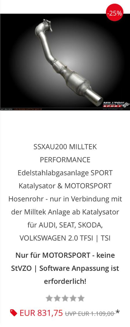 Millte Sport catalyst SSXAU200