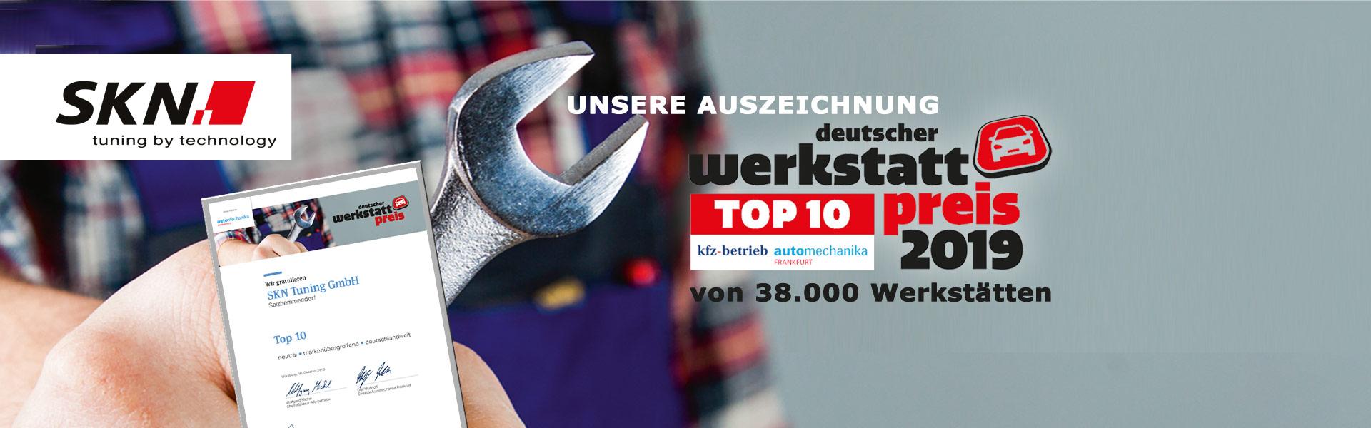 Unsere Auszeichnung - deutscher Werkstatt Preis