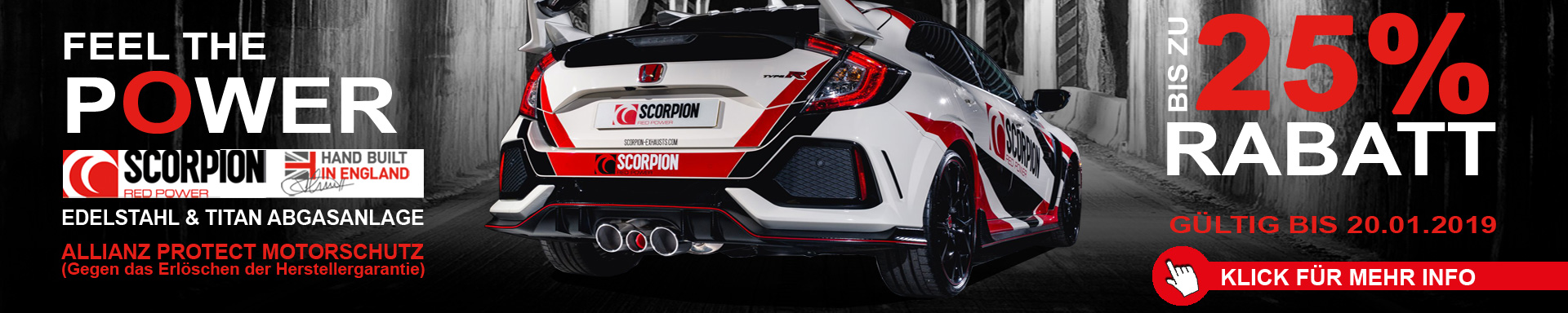 UP TO 25% DISCOUNT ON ALL SCORPION EXHAUST SYSTEMS