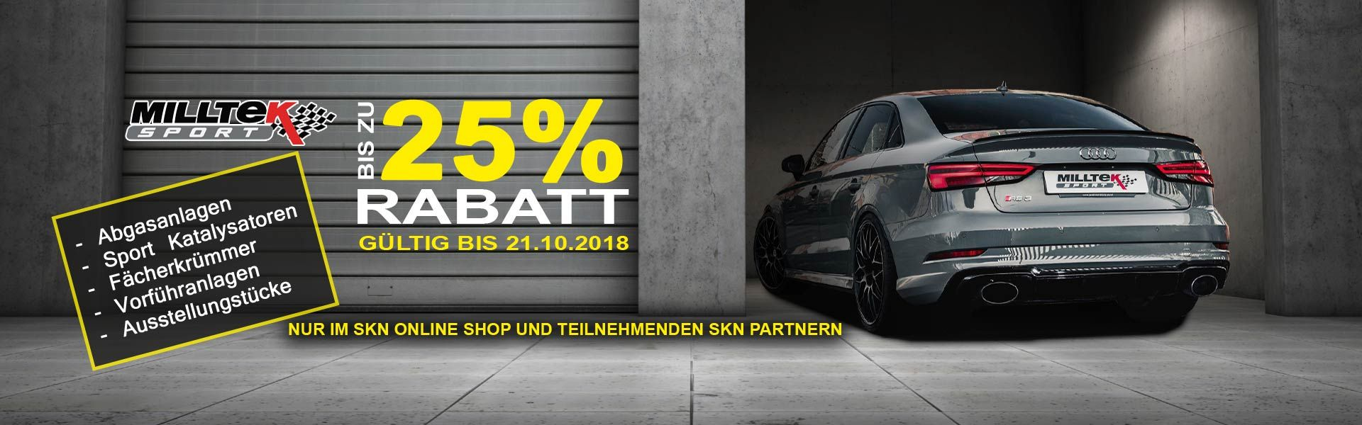 UP TO 25% DISCOUNT ON ALL MILLTEK SPORTS EXHAUST SYSTEMS