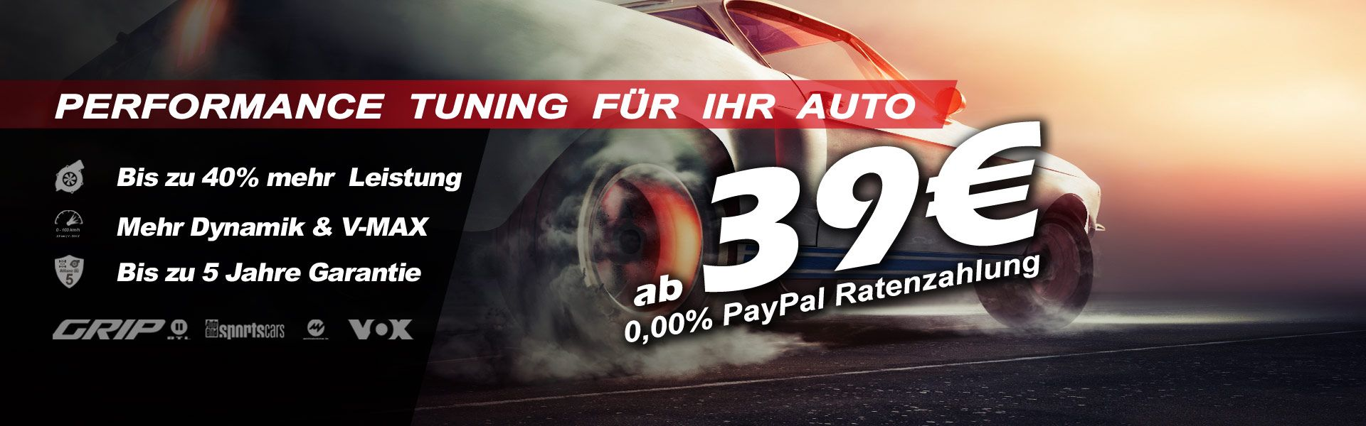 Performance tuning for your car from 39 €