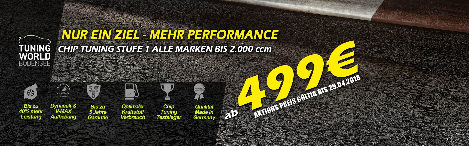CHIP TUNING LEVEL 1 di 499 € *