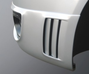 Front spoiler / spoiler lip for cars with original fog lights - for Audi A3 (8P) Sportback