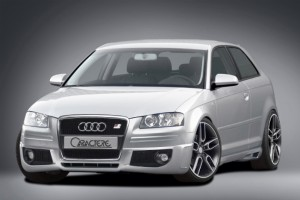 Front spoiler / spoiler lip for cars without original fog lights - for Audi A3 (8P)