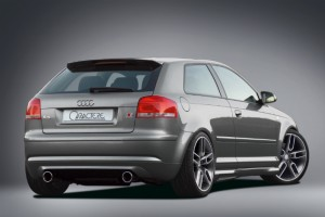 Rear bumper / rear valance without silencer - for Audi A3 (8P)