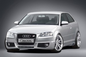 Front spoiler / spoiler lip for cars without original fog lights - for Audi A3 (8P) Sportback