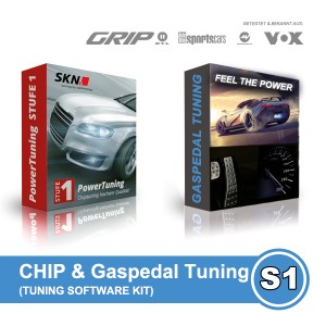 CHIP & GASPEDAL Tuning Kit 2in1 - VW Golf Cabriolet 1.2 TSI BMT (77 kW /105 PS) STUFE 1