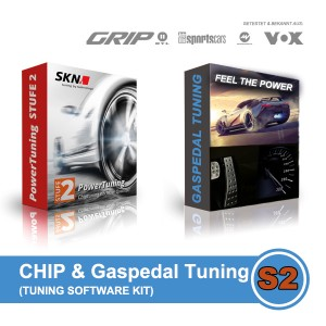 CHIP & GASPEDAL Tuning Kit 2in1 - VW T6 Transporter Kombi 2.0 TDI BMT Hochdach (62 kW /84 PS) STUFE 2