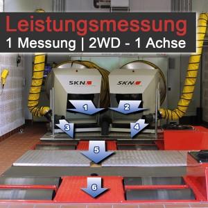 1x Leistungsmessung PKW 2WD | 1 Achse – im SKN Headquarter