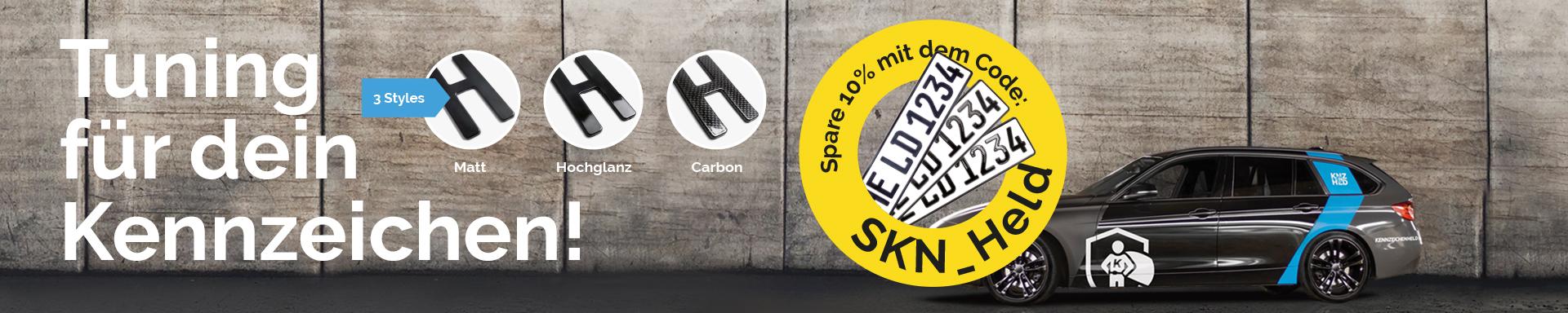 3D Kennzeichen für Ihr Auto von Kennzeichenheld.de!